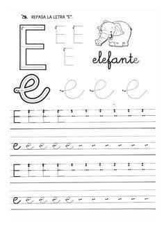 Letter E Activities, Preschool Letters, Cursive, Finger Plays, Spanish Words, Step Kids, Homeschool, Lettering, Education
