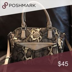 31c6cb07c0f6 Simply Vera Wang snake skin Satchel crossbody Like new! Gently worn. Be on  trend