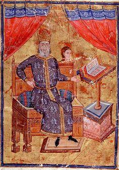 Megas doux Alexios Apokaukos (died 1345) wearing the skaranikon