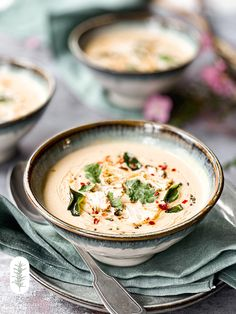 Cauliflower Curry, Roasted Cauliflower, White Soup, Curry Soup, Curry Powder, Soup Recipes, Vegan, Coconut Milk, Healthy