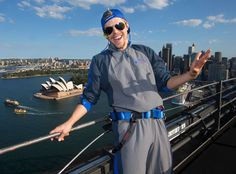 Derek Hough: Nice view! The DWTS pro poses Down Under after climbing to the top of the Sydney Harbour Bridge