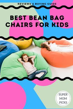 We've found the best bean bag chairs for lounging at home that also double as toy storage! Hide those stuffed animals and create a read nook! #supermompicks #readingnook #stuffedanimalbeanbag #beanbagchairs #quarentinebeanbagchair