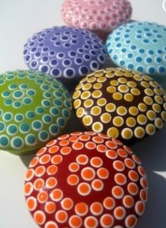 Custom Set of 8 Dotted Delight Drawer Knobs and 2 Giraffe Knobs - RESERVED for…