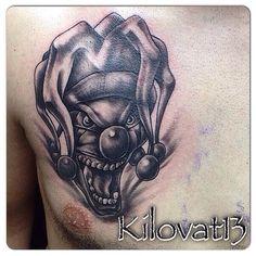 Unique Tattoos For Men, Unique Tattoo Designs, Cool Tattoos For Guys, Tattoos For Women Small, Small Tattoos, Tattoo Design Drawings, Tattoo Sketches, Clown Tattoo, Evil Clowns