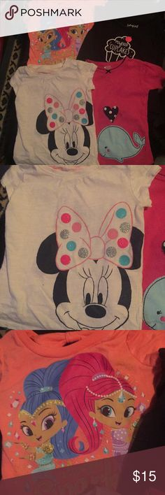 4-Pc T-Shirt Bundle! Nice 4- Pc T-Shirt Bundle! Great Brands, Disney, Nickelodeon,Jumping Beans & Carter's! All Used Condition! Normal Wear From Washer/Dryer, Etc... No Trades Disney Shirts & Tops Tees - Short Sleeve