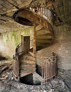 Stairwell on North Brother Island