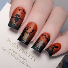 Halloween Ghosts, Halloween Nails, Halloween Themes, Nail Art Images, Nail Stamping Plates, Stencils, Nail Designs, Rings For Men, Pretty