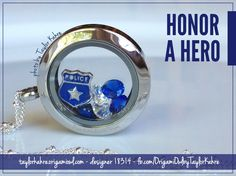 Origami Owl Living Lockets Custom Jewelry - Honor a Hero, police inspired taylorkahre.origamiowl.com fb.com/OrigamiOwlbyTaylorKahre designer 18314