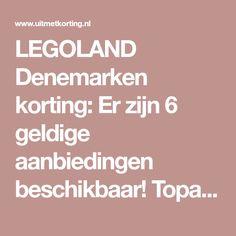 LEGOLAND Denemarken korting: Er zijn 6 geldige aanbiedingen beschikbaar! Topactie LEGOLAND Denemarken: 1 kind gratis t.w.v. €44. Bekijk nu!