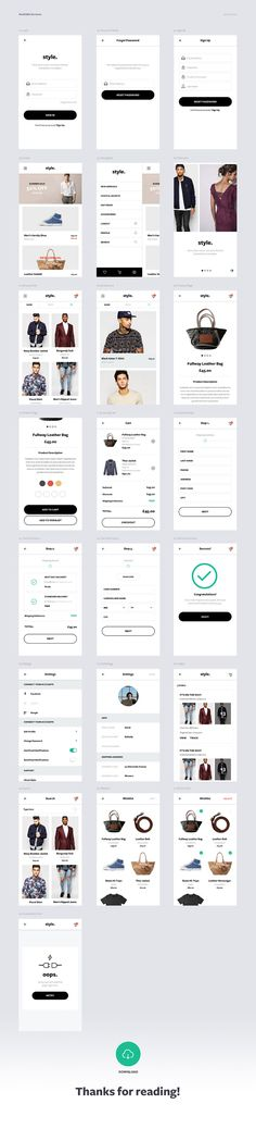 Coming today from the latest project of Daniel Dobson, a Style Free ECommerce UI Kit. This UI Kit was originally created for rapid Free Ecommerce, Ecommerce Web Design, App Ui Design, Site Design, Minimalist Web Design, Interface Web, Graphic Design Programs, Mobile Web Design, Apps