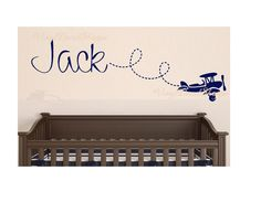 Check out this item in my Etsy shop https://www.etsy.com/listing/290986343/airplane-wall-decal-baby-boy-nursery