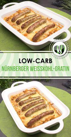 Das Nürnberger Weißkohl-Gratin ist ein leckeres low-carb Hauptgericht und zudem auch noch glutenfrei.