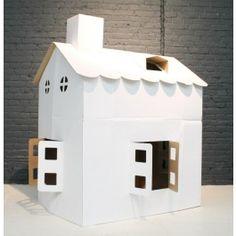 Ideas for cardboard playhouse. Kartonnen speelhuisje   Cardboard  play house   € 25.00   We love!