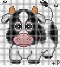 Häkelfieber: C-2-C-baby blanket 'cow'