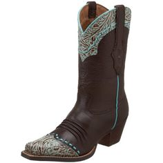 These are the women's Dixie with premium full-grain leather vamp and shaft as well as leather covered square studs, collar and pull-tab treatment on some styles. They also have a tooled wing tip and collar design, Duratred outsole, and a 2.5' roughout leather-wrapped heel. http://www.amazon.com/dp/B0033WTAXU/?tag=icypnt-20