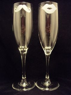 His and Hers: Fun champagne flutes