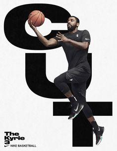 """printdesign: """"Nike Basketball, The Kyrie Design by Hort. Nike Campaign, Nike Poster, Kyrie 3, Nike Design, Sports Graphic Design, Kyrie Irving, Nike Basketball, Basketball Players, Soccer"""