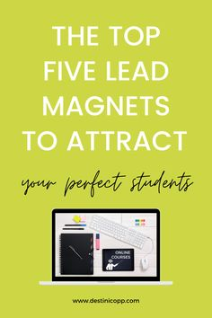You already know that you need a lead magnet for your online course. Even if you have one, it's probably time for a refresh so you can start attracting your perfect students. But the last thing you want to do is to create another lead magnet that doesn't attract action takers. You want email subscribers that will become future students. These are the individuals who want your help and will pay money for your solutions. #onlinecoursetips #onlinecourses #leadmagnet