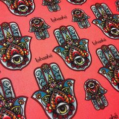Hamsa fabric by Lubaabä