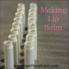 Making Lip Balm with #essentialoils