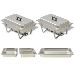 Shop today for 2 Piece Chafing Dish Set Stainless Steel. This set of 2 chafing dishes is very practical and ideal for keeping food warm or hot for prolonged periods. It is ideal for use in catering, restaurants, hotels, or parties or family