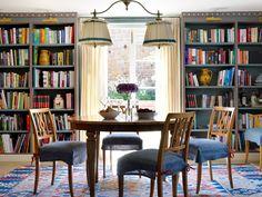 Interior Design Portfolios, Interior Design Companies, Beata Heuman, Cottage Dining Rooms, Living Room, Cottage Design, Elle Decor, Contemporary Furniture, Building A House