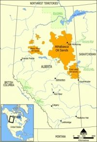 Extent of the oil sands in Alberta, Canada. The three oil sand deposits are known as the Athabasca Oil Sands, the Cold Lake Oil Sands, and the Peace River Oil Sands The Narwhal, Northwest Territories, Thing 1, Environmental Issues, First Nations, Geology, Peace, River, Maps