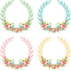 Shabby Blogs: Vintage Freebie with Keren: Pretty Shabby Digital Wreaths