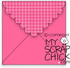 Square Scalloped Envelope: click to enlarge