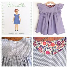 "« This is the last one!(for now) Citronille's Rosamée this time 4ans(size 4yo 104cm) with purple gingham check. The lining is Liberty ""D'anjo""… »"