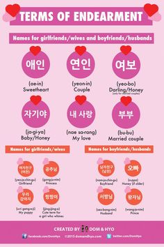 Korean Terms of Endearment