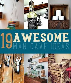 Awesome DIY Mancave Ideas! Furniture, cool decor and best DIYs for decking out the perfect man cave | DIY Projects for Men, Cool Crafts for Guys and Do It Yourself Tips