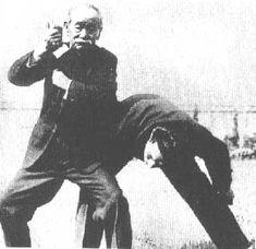 Jigoro Kano demonstrating Kodokan Judo in Vienna