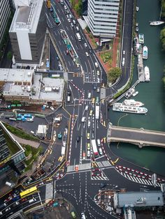 otakugangsta_January 2015 at City Layout, Map Layout, City Skylines Game, Minecraft City Buildings, Futuristic Architecture, Birds Eye View, Tokyo Japan, Aerial View, City Photo