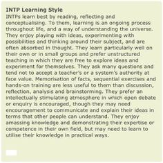 INTP leaning style