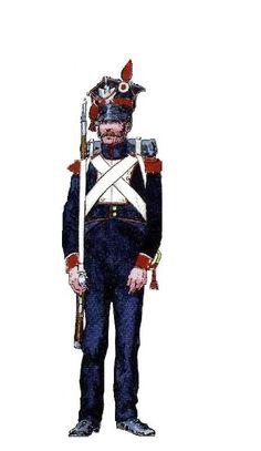 Fuciliere di un reggimento della linea della fanteria polacca del ducato di Varsavia