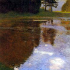 Gustav Klimt - Lake in front of the Castle - 1899 Oil on canvas 74 × 74 cm