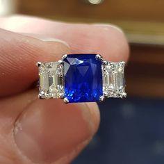 My wife's ring 3.7 carat unheated sapphire