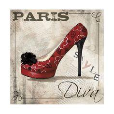 Tableau peinture huile sur toile lin chaussures femme sexy for Posters art contemporain