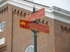 """Known as the """"Village of the Spires"""" for the multiple church steeples that punctuate its skyline, Oldenburg, Indiana offers a unique visitor experience. Custom Street Signs, Oldenburg, Indiana, Beads"""