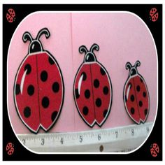 Set Of 3 Ladybug Iron On Appliques by Nancyshandmadecrafts on Etsy