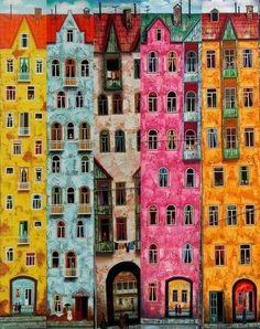 pinturas do artista David Martiashvili