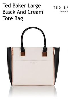 Beautiful new black and cream colour block bag from Ted Baker