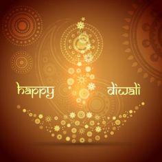 11 best diwali greeting cards designs images on pinterest diwali vector floral art pattern artistic diya design with happy diwali typography logo m4hsunfo