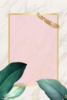 Rectangle foliage frame on white marble background vector Framed Wallpaper, Wallpaper Backgrounds, Iphone Wallpaper, Wallpapers, Molduras Vintage, Flower Frame, White Marble, Green Marble, Background Patterns