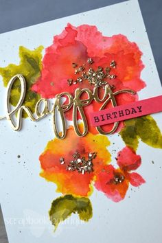 Scrapbook Boutique New Challenge now Open to NZ! Cool Cards, Easy Cards, Watercolor Cards, Watercolor Flowers, Altenew Cards, Birthday Card Design, Handmade Birthday Cards, Pretty Cards, Homemade Cards