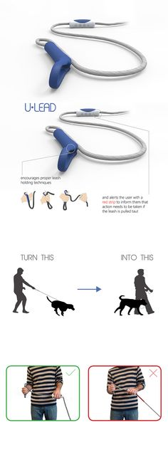 When it comes to walking, we often think it's the animal that needs training when it's really the human, designed with this in mind, the 'U-Lead Dog Leash' helps correct owner behavior... READ MORE at Yanko Design !