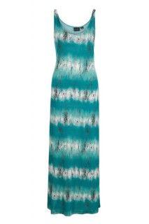 Pacific teal maxi dress  #summer #summerdress #tribalsportswear #maxidress #dress #fashion #style #summerstyle #teal #blue #stripes