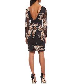 ff3dd735e4 Belle Badgley Mischka Boho Floral Print Lace Cocktail Dress Badgley Mischka,  Dillards, Street Styles