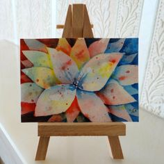 ACEO Flowers Watercolour £4.00